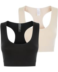 New Look Maternity 2 Pack Black And Stone Bralettes