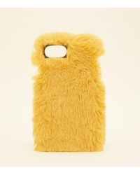 New Look - Mustard Faux Fur Iphone 6/6s/7 Case - Lyst