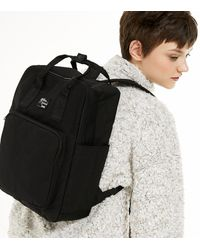 New Look Black Tab Front Backpack