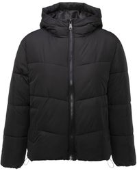 New Look Black Hooded Boxy Puffer Jacket