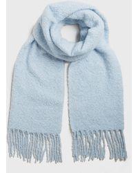 New Look Blue Soft Knit Tassel Scarf