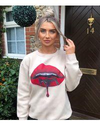 AX Paris Crew Neck Lips Sweatshirt New Look - Multicolour