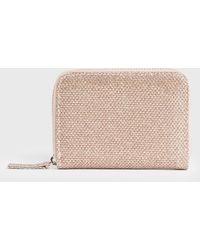 New Look Rose Gold Diamanté Card Holder - Pink