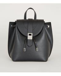 New Look Black Leather-look Mini Backpack