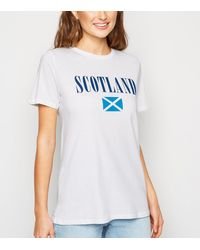 New Look - White Scotland Flag Rugby Slogan T-shirt - Lyst
