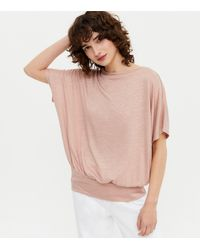 New Look Pale Pink Soft Fine Knit Batwing Top