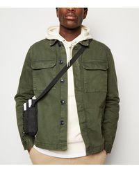 New Look - Khaki Utility Denim Jacket - Lyst