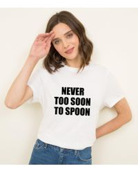 New Look - White Never Too Soon To Spoon T-shirt - Lyst