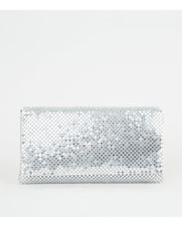 New Look Silver Chainmail Clutch - Metallic