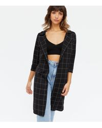 Missfiga Black Check Long Jacket