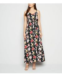 Mela Blue Floral Tie Waist Maxi Dress