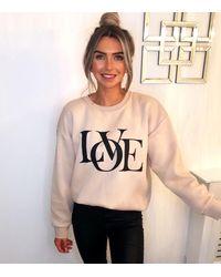 AX Paris Logo Love Sweatshirt New Look - Multicolour