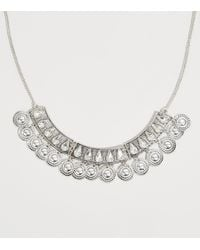 New Look Silver Gem Coin Necklace - Metallic