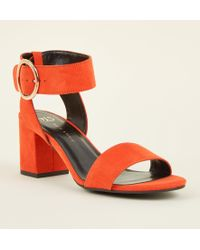 d0140f65be24 New Look - Girls Orange Suedette Ring Buckle Sandals - Lyst