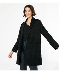 New Look Black Suedette Duster Jacket