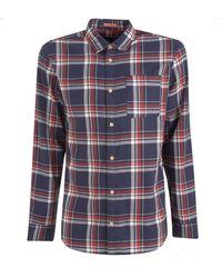Jack & Jones Navy Check Shirt - Blue