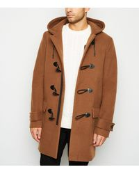 New Look Camel Hooded Duffle Coat - Multicolour