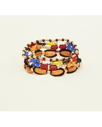 New Look - Multi Colour Wooden Stretch Bracelet - Lyst