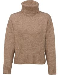 New Look Camel Boxy Roll Neck Jumper - Natural