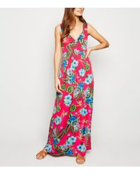 Mela Pink Floral Maxi Dress