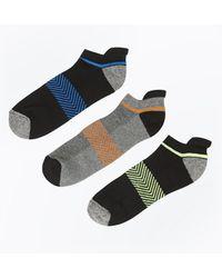 New Look - 3 Pack Black Stripe Liner Socks - Lyst