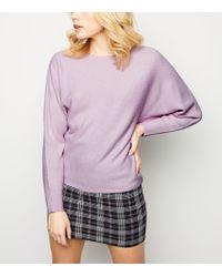 New Look Lilac Batwing Sleeve Jumper - Purple