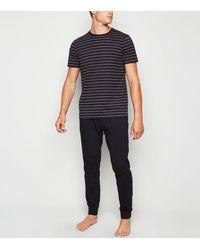 New Look Navy Stripe Pyjama Set - Blue