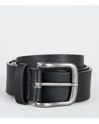 New Look Black Leather-look Buckle Jeans Belt