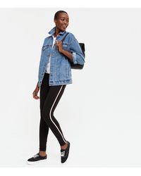 New Look - Tall Black Side Stripe Leggings - Lyst