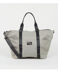 New Look Grey Sports Holdall Bag