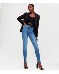 New Look Tall Blue 'lift & Shape' Jenna Skinny Jeans
