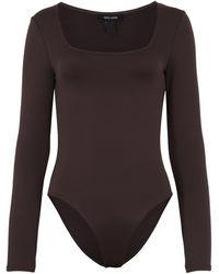 New Look Dark Brown Square Neck Bodysuit