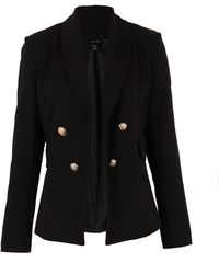 New Look Black Utility Button Blazer