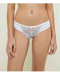 New Look White Lace Strappy Briefs