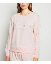 New Look Mid Pink Sunday Slogan Pyjama Sweatshirt