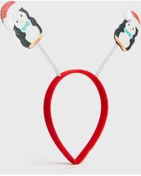 New Look Multicoloured Christmas Penguin Bopper Headband