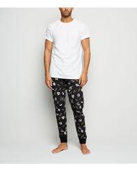 New Look Black Star Wars Pyjama Joggers