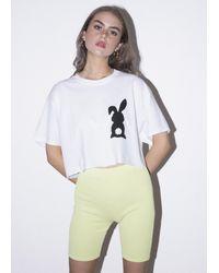 New Love Club Bunny Tail Crop Tee - Multicolour
