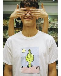 New Love Club - Cheeky Cactus White Tee - Lyst