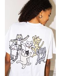 New Love Club Cat Party White Tee