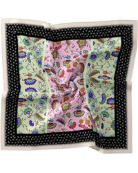 Nicole Miller Chabana Silk Blend Scarf - Multicolor