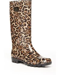 Nicole Miller - Rainy Day Leopard-Print Boots - Lyst