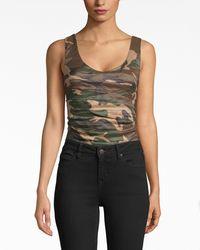 Nicole Miller Camouflage Technometal Bodysuit - Multicolor