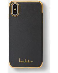 Nicole Miller Crosshatch Iphone 6/6s/7/8 Case - Black
