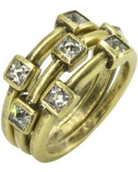 Nicole Miller - Pyramid Stackable Set Rings - Lyst