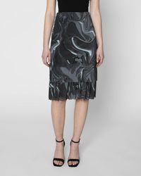 Nicole Miller Neptune Swirl Mesh Skirt - Grey
