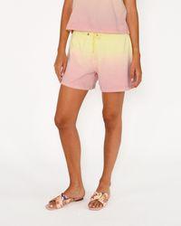 Nicole Miller Sorbet Dip Dye Shorts - Pink