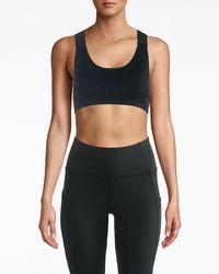 Nicole Miller Wide Strap Seamless Sports Bra - Black