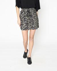 Nicole Miller Cheetah High Waisted Shorts - Black