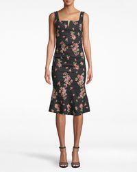 Nicole Miller Pink Dawn Midi Dress - Black